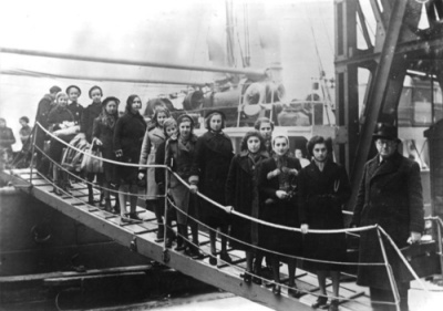 1938 children fleeing Germany